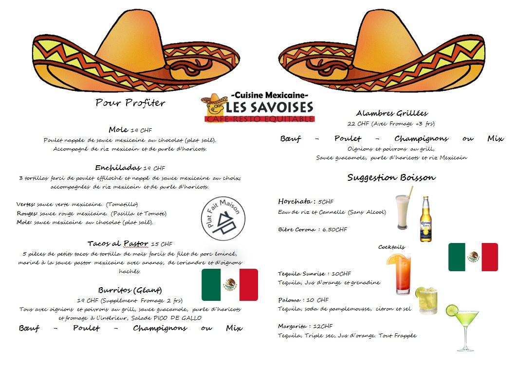 La carte mexicaine