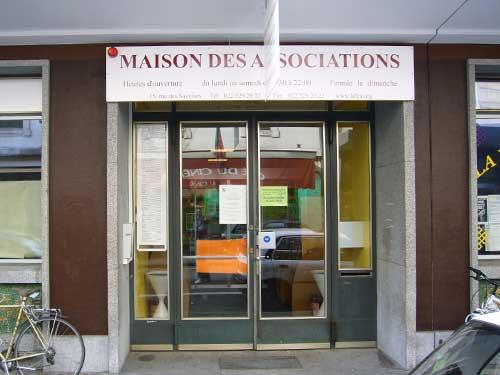 L'entrée de la Maison des Associations