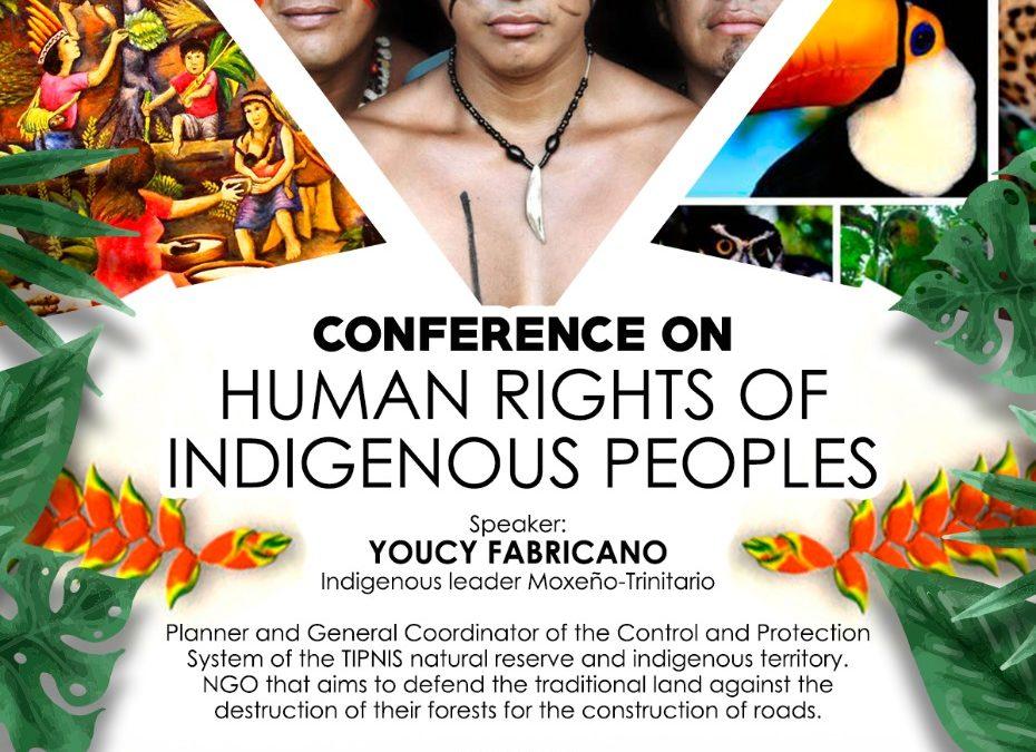 Privé: Conférence sur les droits humains des peuples indigènes. Vendredi 12 juillet