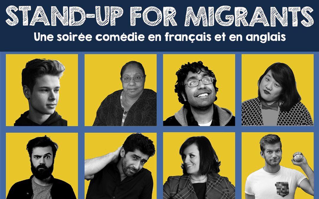 Stand-Up for Migrants, une soirée d'humour et de solidarité avec les migrant-e-s !